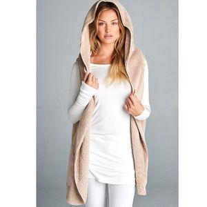 Jackets & Blazers - 🌟Faux Fur Plush Hoodie Vest